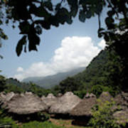 An Indigenous Village In The Jungles Art Print