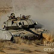 An Israel Defense Force Magach 7 Main Art Print