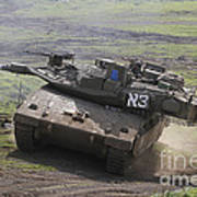 An Israel Defense Force Merkava Mark Iv Art Print