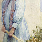 An Italian Peasant Girl Art Print by Ada M Shrimpton