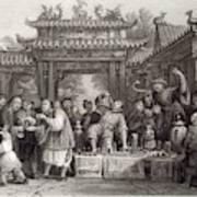 An Itinerant Chinese Doctor At Art Print