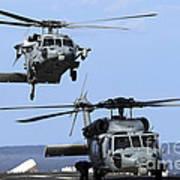 An Mh-60s Sea Hawk Approaches Art Print