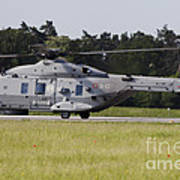 An Nh90 Helicopter Of The Italian Navy Art Print