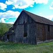 An Old Barn In The Sage Art Print