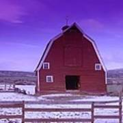 An Old Barn In The Wenas Art Print