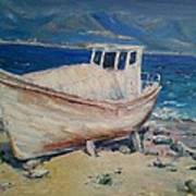 An Old Boat Art Print