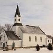 An Old Church In Palermo North Dakota Art Print