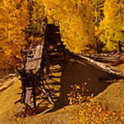 An Old Colorado Mine In Autumn Art Print