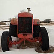 An Old Dase Tractor Art Print