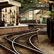 An Old-fashioned Train Station Art Print