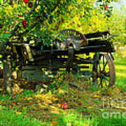 An Old Harvest Wagon Art Print