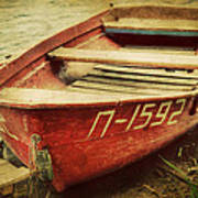 An Old Row Boat Art Print