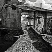 An Old Spanish Town Puente De Montanana Art Print