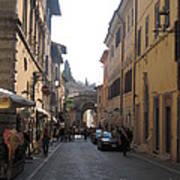 An Old Street In Assisi Italy  Art Print