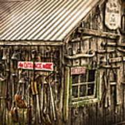 An Old Tool Shed Art Print
