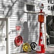 An Old Village Gas Station Art Print