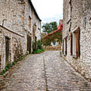 An Old Village Street Art Print by Olivier Le Queinec