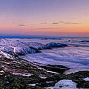 An Undercast Sunset Panorama Art Print