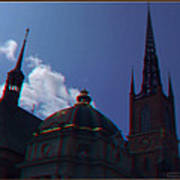 Anaglyph Church Art Print