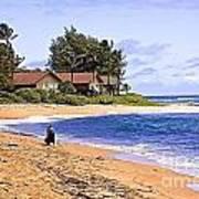 Anahola Beach Kauai Art Print