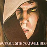 Anakin Skywalker A Powerful Sith Art Print