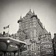 Analog Photography - Chateau Frontenac Quebec Art Print