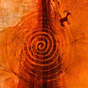 Anasazi Spirals  Art Print