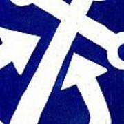 Anchor- Dark Blue Art Print