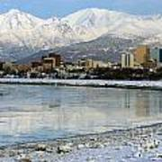 Anchorage Cityscape Art Print