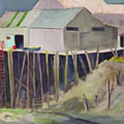 Anchorage Dock 1980s Art Print