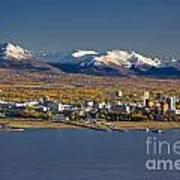 Anchorage Skyline And The Chugach Art Print