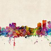 Anchorage Skyline Art Print by Michael Tompsett