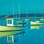 Anchored In Maine Art Print