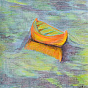 Anchored In The Shallows Art Print