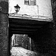 Ancient Alley In Tui Bw Art Print