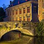 Ancient Bridge In Bruges  Art Print