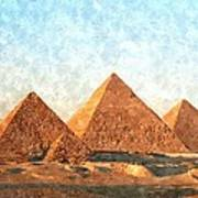 Ancient Egypt The Pyramids At Giza Art Print