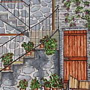Ancient Grey Stone Residence Art Print