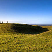 Ancient Hill Of Tara In The Winter Sun Art Print