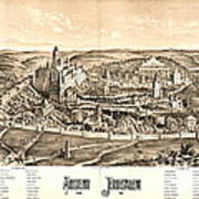Ancient Jerusalem Map 65ad Art Print