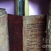Ancient Torah Scrolls From Yemen  Art Print
