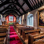 Ancient Welsh Church Art Print by Adrian Evans