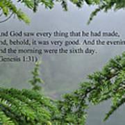And God Saw Art Print