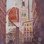 And Suddenly The Duomo Art Print