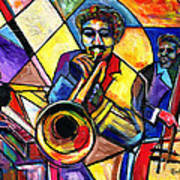 And Then There Was Da Blues Print by Everett Spruill