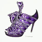 ...and Toes To Match - Purple Art Print