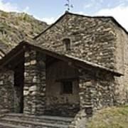 Andorra. Canillo. Church Of Sant Joan Art Print