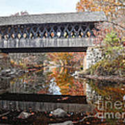 Andover Covered Bridge Art Print