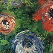Anemonies Art Print