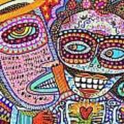 Angel And Frida Sugar Skull Lovers' Art Print